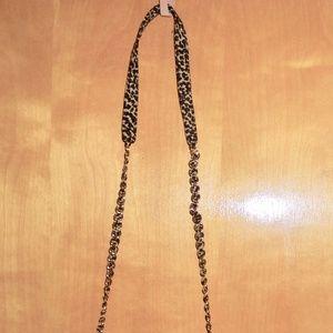 Nine West Bags - NIne West Long Leopard Print Chain Purse Bag